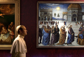 "Jude Law in ""The Young Pope"" opening title sequence"