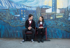 "Dylan Minnette and Katherine Langford in ""13 Reasons Why"""