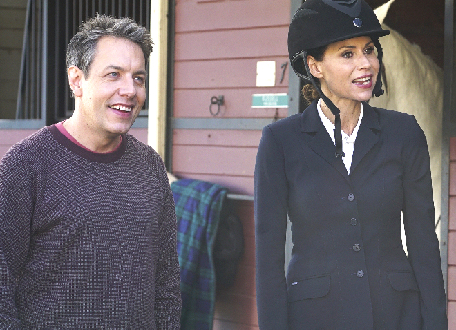 "John Ross Bowie and Minnie Driver in ""Speechless"""