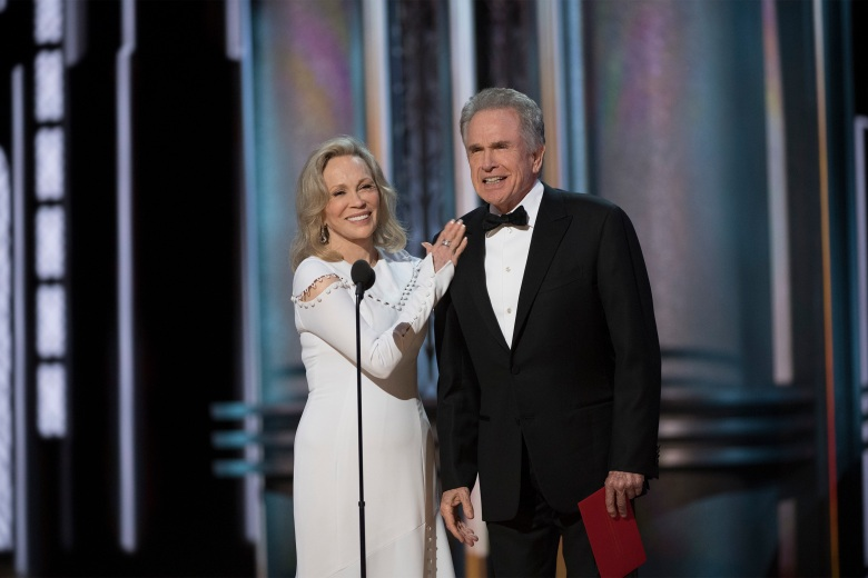 THE OSCARS(r) - The 89th Oscars(r) broadcasts live on Oscar(r) SUNDAY, FEBRUARY 26, 2017, on the ABC Television Network. (ABC/Eddy Chen)FAYE DUNAWAY, WARREN BEATTY