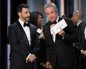 THE OSCARS(r) - The 89th Oscars(r) broadcasts live on Oscar(r) SUNDAY, FEBRUARY 26, 2017, on the ABC Television Network. (ABC/Eddy Chen)JIMMY KIMMEL, WARREN BEATTY