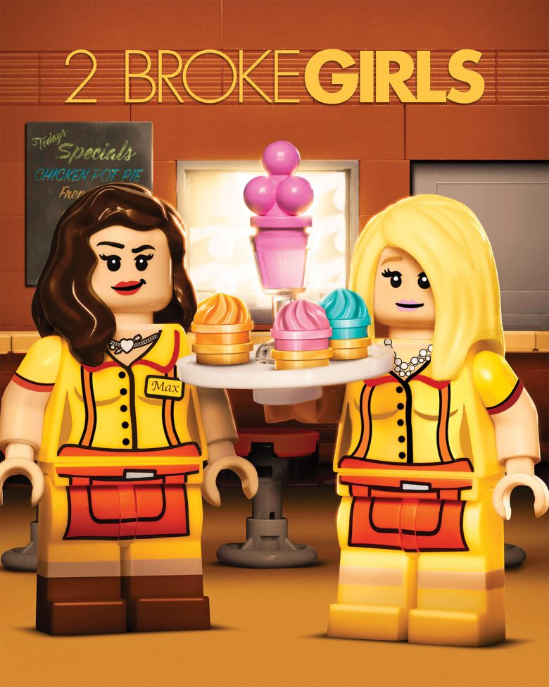 "LEGO ""2 Broke Girls"" billboard"