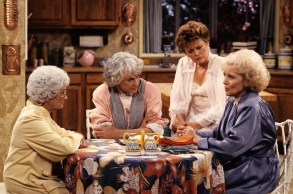 """Estelle Getty, Bea Arthur, Rue McClanahan and Betty White on """"The Golden Girls"""""""