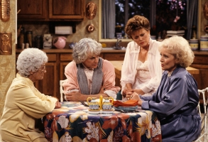"Estelle Getty, Bea Arthur, Rue McClanahan and Betty White on ""The Golden Girls"""