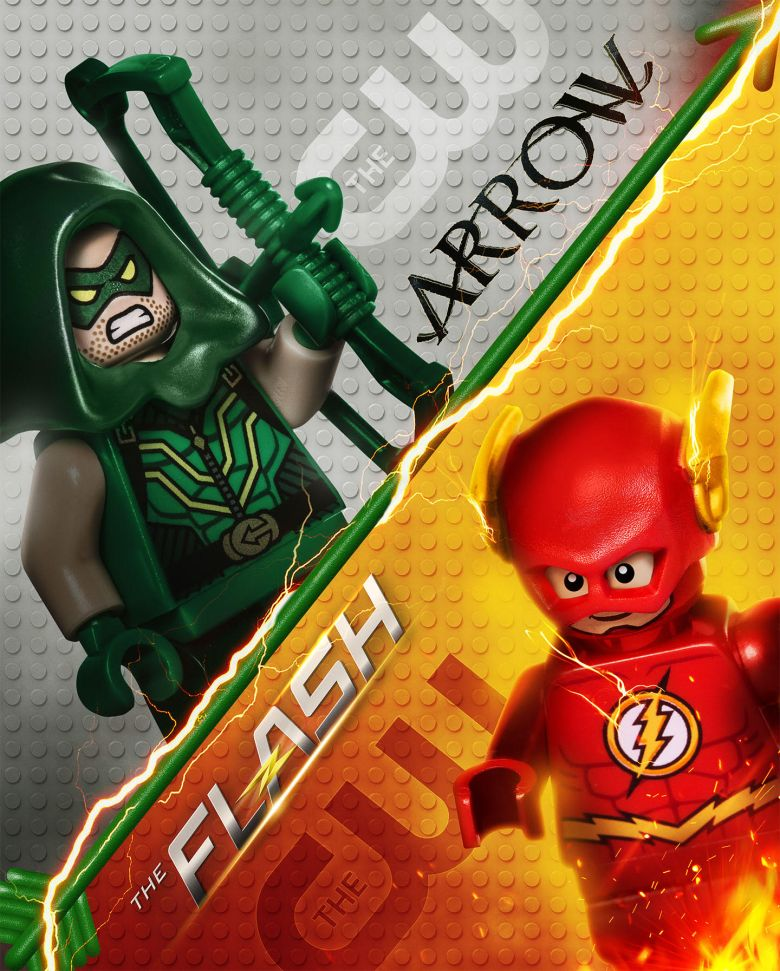 "LEGO ""Arrow/The Flash"" billboard"