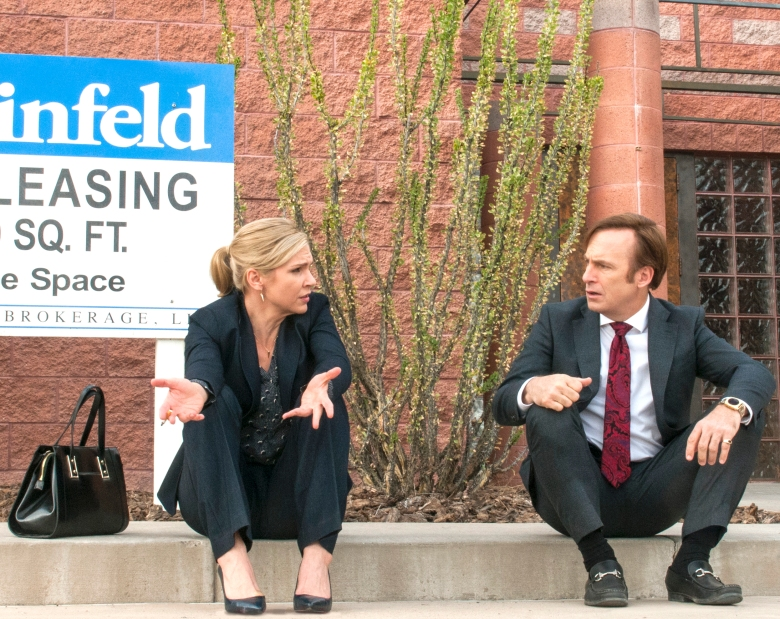 "Rhea Seehorn and Bob Odenkirk in ""Better Call Saul"""