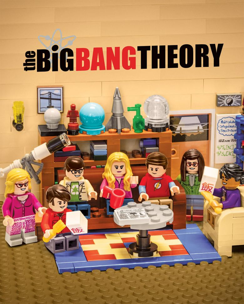 "LEGO ""The Big Bang Theory"" billboard"