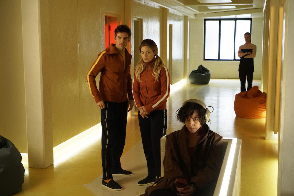 "LEGION Chapter 1 Dan Stevens as David Haller, Rachel Keller as Syd Barrett, Aubrey Plaza as Lenny ""Cornflakes"" Busker"