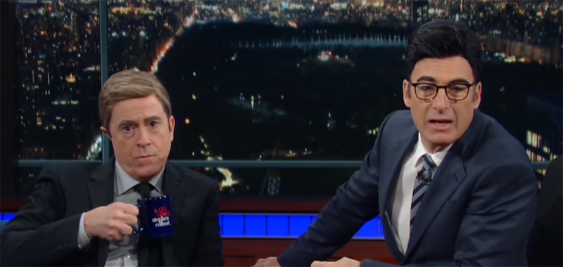 Stephen Colbert and Bob Odenkirk Take on Hilarious Roles of a Lifetime For Fake 'Late Show' Movie — Watch