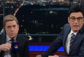 Stephen Colbert and Bob Odenkirk