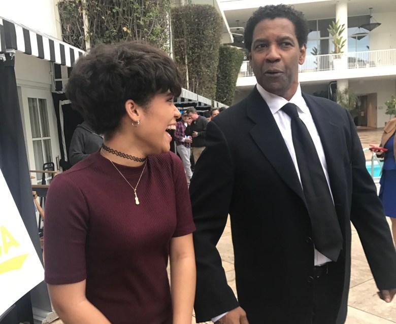 Denzel Washington and Brianna Perez