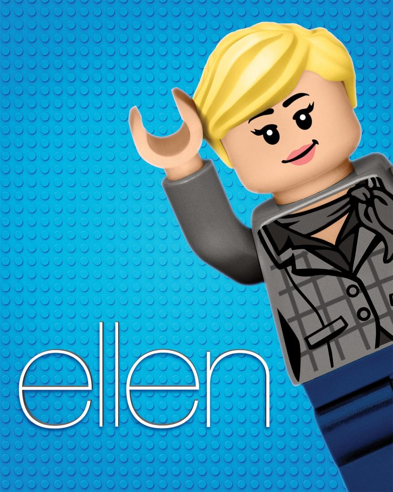 "LEGO ""Ellen"" billboard"