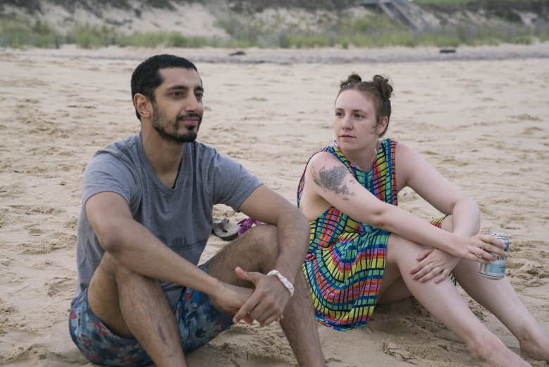 "Riz Ahmed and Lena Dunham in ""Girls."""