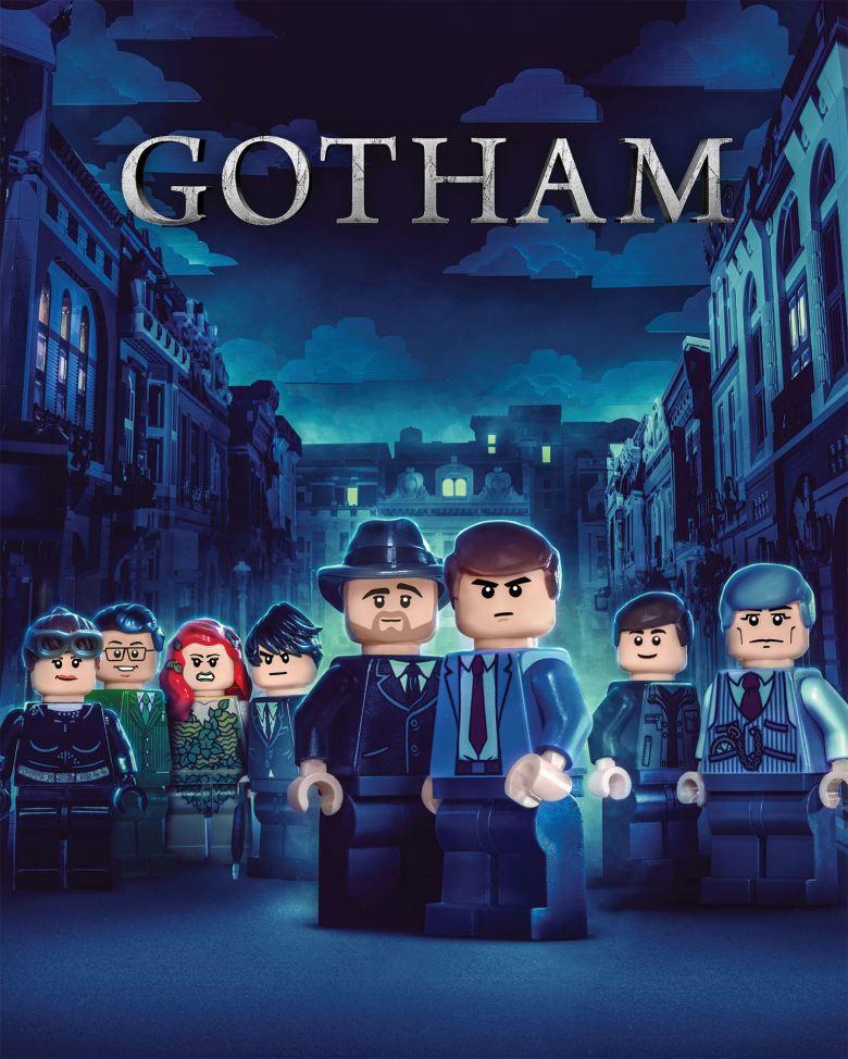 """LEGO """"Gotham"""" billboard"""