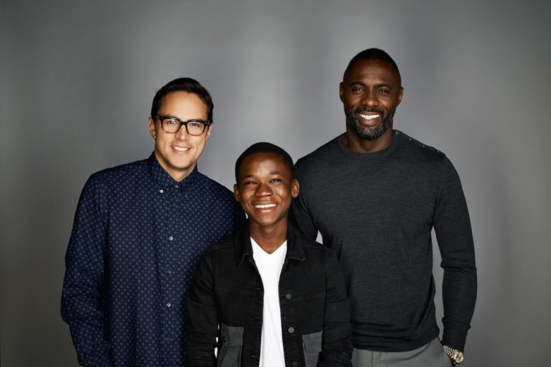 director Cary Fukunaga, Abraham Attah and Idris Elba