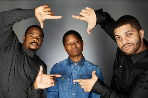 director F. Gary Gray, Jason Mitchell and O'Shea Jackson, Jr.