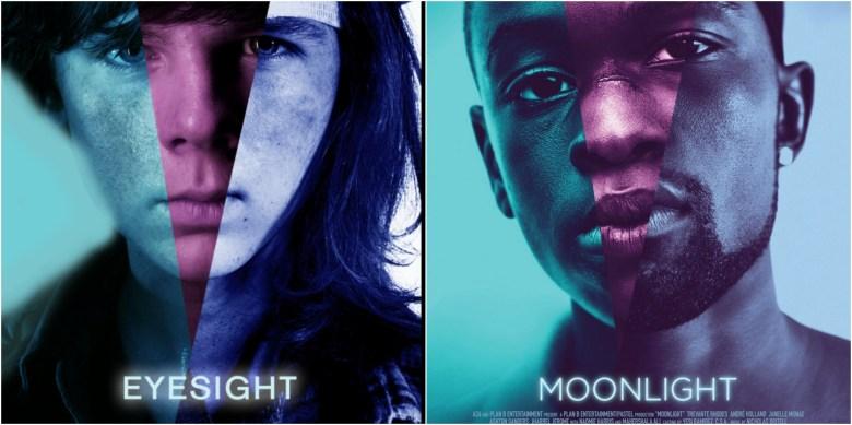 """The Walking Dead"" vs. ""Moonlight"" posters"