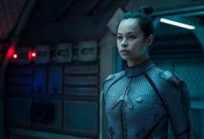"THE EXPANSE -- ""Static"" Episode 203 -- Pictured: Frankie Adams as Bobbie Draper -- (Photo by: Rafy/Syfy)"