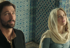"Michiel Huisman and Hera Hilmar in ""The Ottoman Lieutenant"""