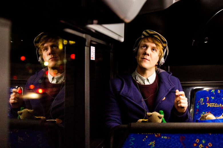 """Please Like Me - """"Babaganoush"""" 401 - A threesome goes wrong, teddy bears' lives are threatened, a lovers' tiff makes a family barbecue awkward, and a revelation over a chocolate quinoa slice makes Josh realise he's had it up to here with things. Arnold (Keegan Joyce) and Josh (Josh Thomas). (Photo courtesy of Participant/Hulu)"""
