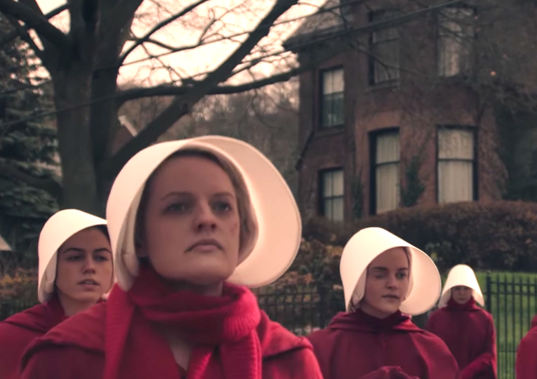 dystopia as defined in the stories 1984 and the handmaids tale