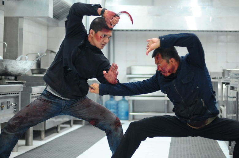 No Merchandising. Editorial Use Only. No Book Cover Usage Mandatory Credit: Photo by REX/Shutterstock (4076945b) Iko Uwais, Cecep Arif Rahman 'The Raid 2: Berandal' Film - 2014