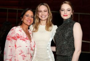 Cathy Schulman, Brie Larson and Emma StoneWoman in Film cocktail party, Inside, Los Angeles, USA - 24 Feb 2017