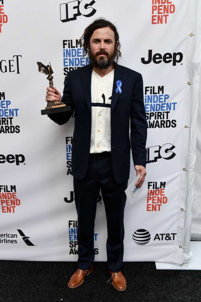 Casey Affleck 32nd Film Independent Spirit Awards, Press Room, Santa Monica, Los Angeles, USA - 25 Feb 2017