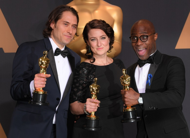 Adele Romanski, Jeremy Kleiner and Barry Jenkins - Best Picture - 'Moonlight'89th Annual Academy Awards, Press Room, Los Angeles, USA - 26 Feb 2017