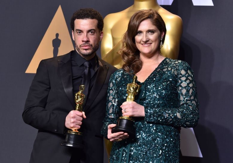 Ezra Edelman and Caroline Waterlow - Documentary (Feature) - 'O.J.: Made In America'89th Annual Academy Awards, Press Room, Los Angeles, USA - 26 Feb 2017