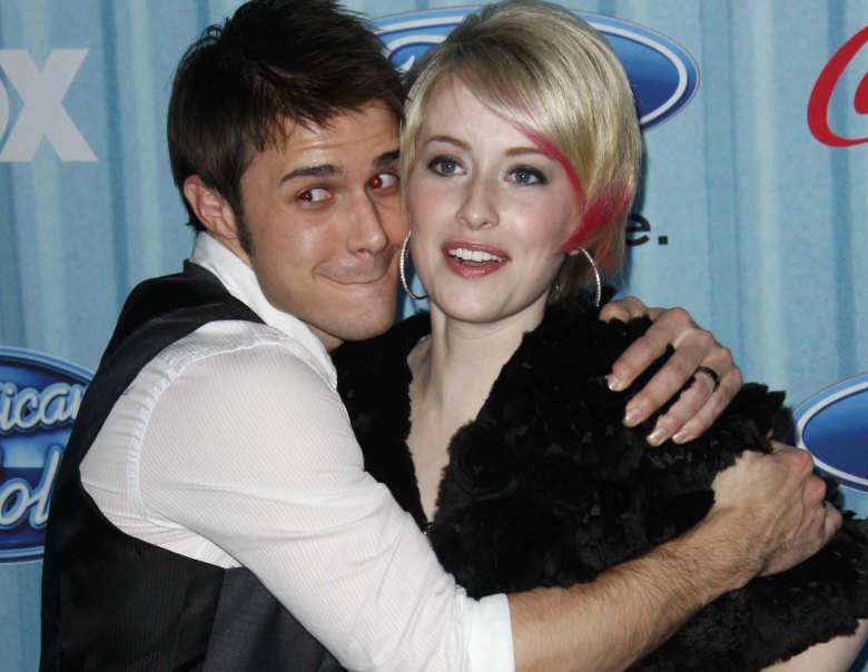 "Kris Allen and Alexis Grace at ""American Idol"" Top 13 party, March 2009"