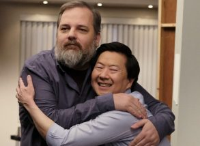 "DR. KEN - ""Ken's Big Audition"" - After an awkward audition with Alison Brie (guest starring as herself), Hollywood producer/writer Dan Harmon (guest starring as himself) makes Ken's life-long dream come true by casting him in a new comedy series that takes place at a community college. Meanwhile, Pat is ready to declare his love for Damona, but an unexpected visit from his ex-wife, Tiffany (guest star Nia Vardalos), throws him off course; and Allison is less prepared for Molly to leave for Stanford than she's letting on. The season finale of ""Dr. Ken"" airs FRIDAY, MARCH 31 (8:31-9:00 p.m. EDT), on The ABC Television Network. (ABC/John Fleenor)DAN HARMON, KEN JEONG"