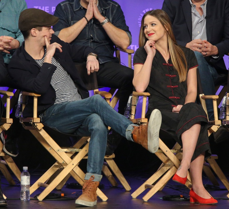 HOLLYWOOD, CA - MARCH 18: Grant Gustin and Melissa Benoist at PaleyFest LA 2017 honoring The CW's Heroes and Aliens, presented by The Paley Center for Media, at the DOLBY THEATRE on March 18, 2017 in Hollywood, California. © Imeh Bryant for the Paley Center