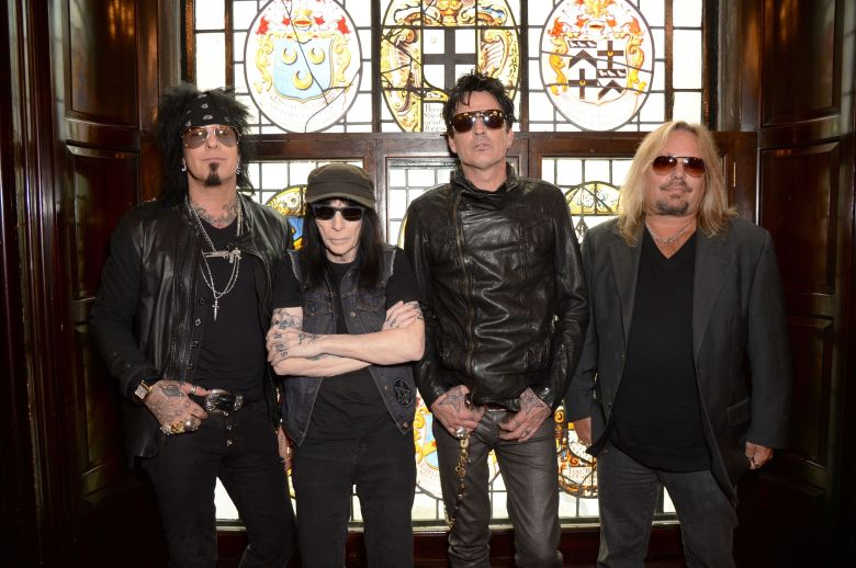 Nikki Sixx, Mick Mars, Tommy Lee, Vince NeilMotley Crue final European Tour announcement at The Law Society, London, Britain - 09 Jun 2015