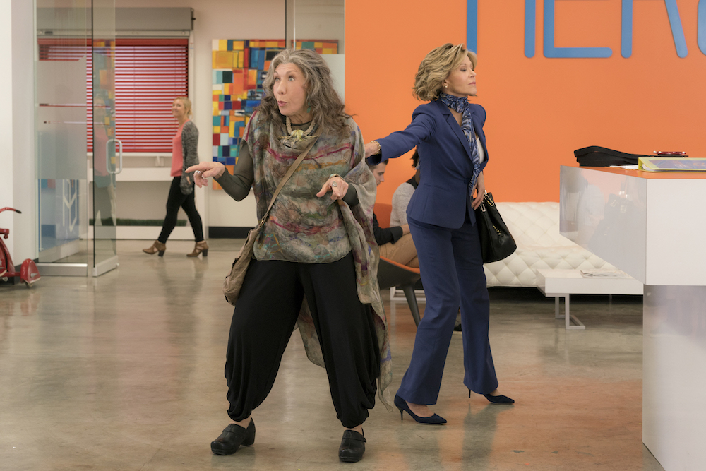 grace and frankie season 3 review lily tomlin makes vibrators netflix indiewire. Black Bedroom Furniture Sets. Home Design Ideas