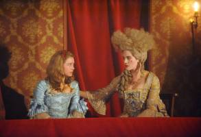 "HARLOTS -- ""Episode 1"" Episode 101 - Margaret Wells' business comes under attack from a rival madam. As they risk losing everything, how much will Margaret and her daughters have to sacrifice to keep the brothel, and the Wells family afloat? Lucy Wells (Eloise Smyth) and Charlotte Wells (Jessica Brown-Findlay), shown. (Photo by: Liam Daniel/Hulu)"