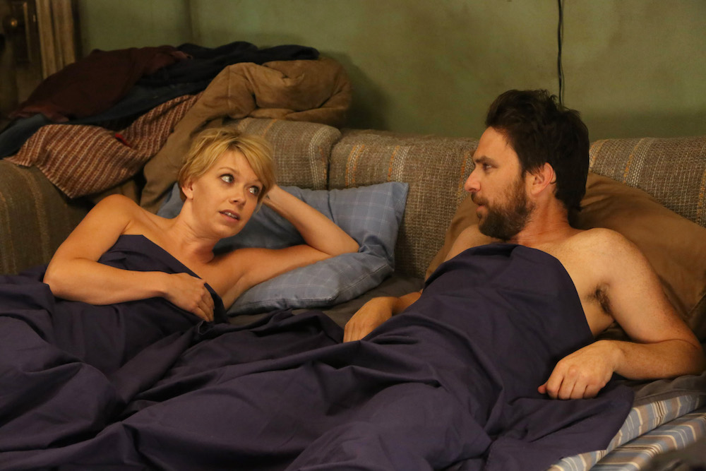 """IT'S ALWAYS SUNNY IN PHILADELPHIA -- """"Dennis' Double Life"""" – Season 12, Episode 10 (Airs March 8, 10:00 pm e/p) Pictured: (l-r) Charlie Day as Charlie Kelly, Mary Elizabeth Ellis as The Waitress. CR: Patrick McElhenney/FXX"""