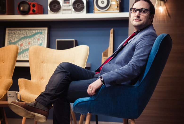 """John Teti, host of Fusion's """"The A.V. Club."""""""