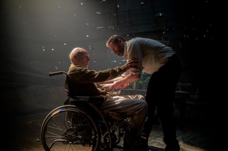 L1005610 - Charles (Patrick Stewart) and Logan (Hugh Jackman) in LOGAN. Photo Credit: James Mangold.