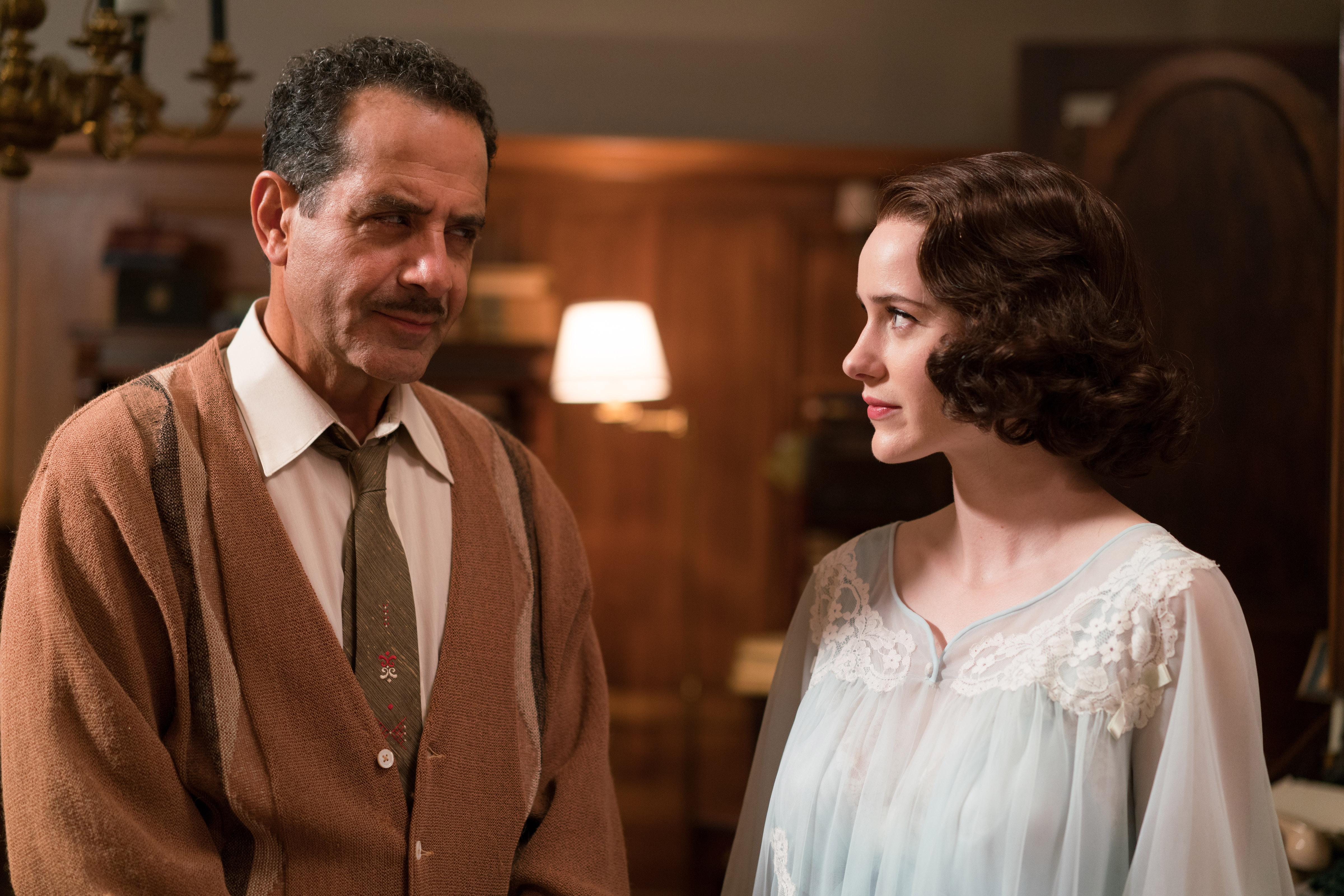 """Tony Shalhoub and Rachel Brosnahan, """"The Marvelous Mrs. Maisel"""""""