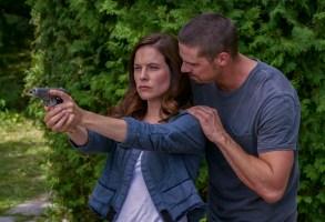 "Caroline Dhavernas and Jay Ryan in ""Mary Kills People"""