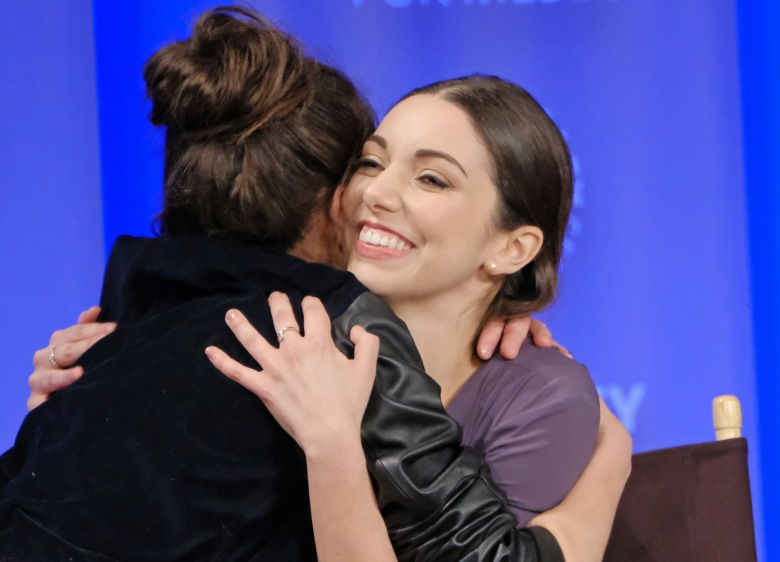 """Tatiana Maslany hugs Kathryn Alexandre at """"Orphan Black"""" PaleyFest 2017"""