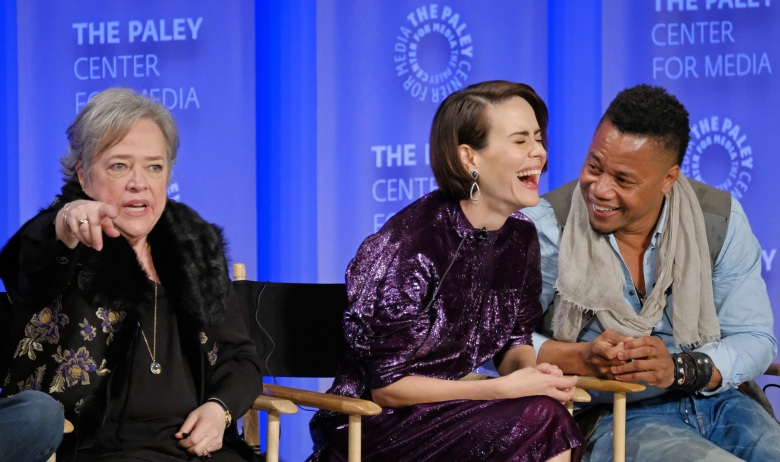 Kathy Bates, Sarah Paulson, and Cuba Gooding Jr. at PaleyFest 2017