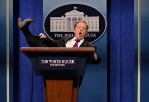 "Melissa McCarthy as Sean Spicer, ""Saturday Night Live"""