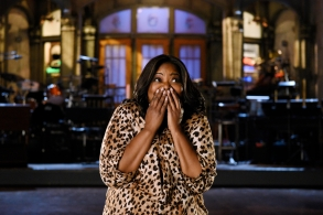"""SATURDAY NIGHT LIVE -- """"Octavia Spencer"""" Episode 1719 -- Pictured: Host Octavia Spencer poses in Studio 8H on February 28th, 2017 -- (Photo by: Rosalind O'Connor/NBC)"""