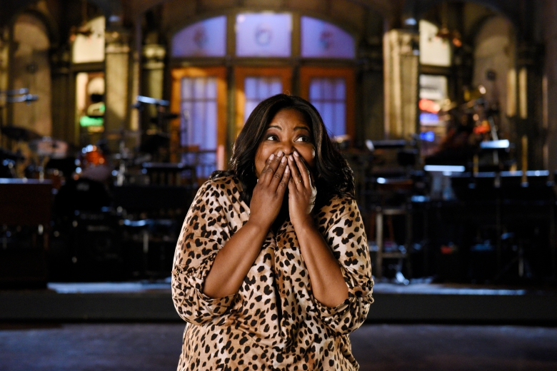 "SATURDAY NIGHT LIVE -- ""Octavia Spencer"" Episode 1719 -- Pictured: Host Octavia Spencer poses in Studio 8H on February 28th, 2017 -- (Photo by: Rosalind O'Connor/NBC)"