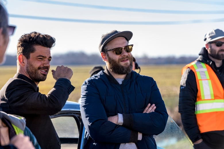 "Dominic Cooper and executive producer Seth Rogen, ""Preacher"""