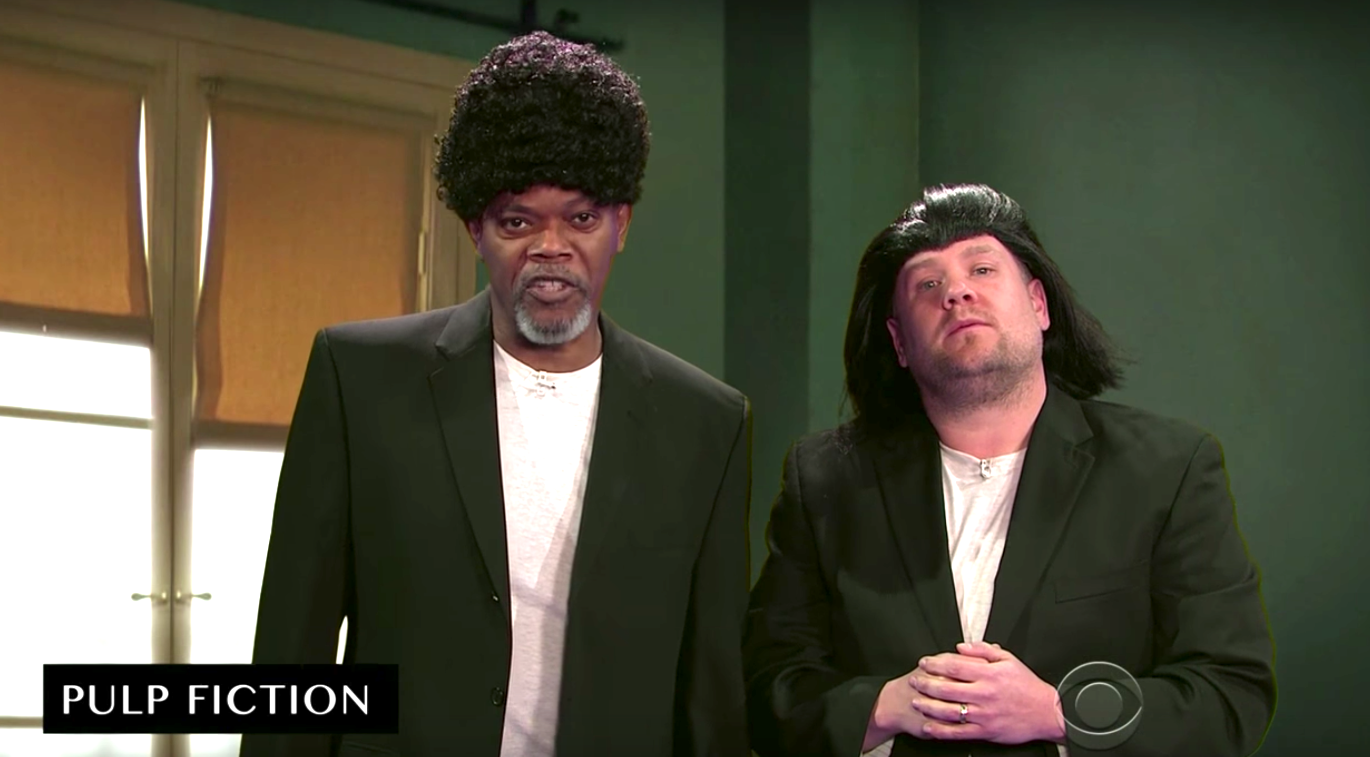 samuel l jackson reenacts his career with pulp fiction and more indiewire. Black Bedroom Furniture Sets. Home Design Ideas