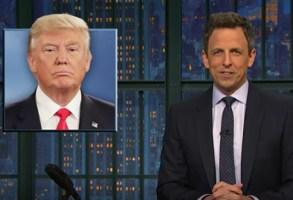 Seth Meyers, Donald Trump