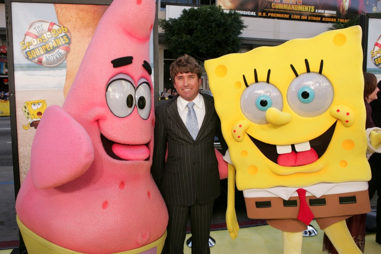 "Stephen Hillenburg, ""The Spongebob Squarepants Movie"" premiere (2004)"